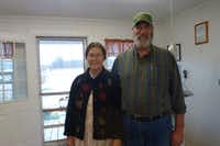 Mike and Debbie Sams, owners of Full Quiver Farms in Kemp.(Kim Pierce)