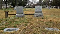 Heinrich and Anna Struck are buried in the Western Heights Cemetery off Fort Worth Avenue, along with their kith and kin — and Clyde and Buck Barrow.((Robert Wilonsky/Staff writer))
