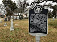 As though one needed proof of the Strucks' importance in West Dallas, it's there on the historical marker planted in front of the Western Heights Cemetery.((Robert Wilonsky/Staff writer))