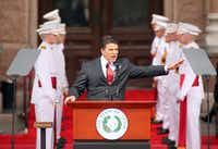 <p>IN 2011, Rick Perry made the most of his moment, delivering his final inaugural address in what would be a record-setting 14-year stint as Texas governor. Presumably, he'll be in Washington on Friday to witness Donald Trump's inauguration as the 45th president, given that he's set to join Trump's cabinet. But two years prior to the speech above, Perry couldn't be bothered to even watch on television Barack Obama's inauguration.&nbsp;</p><p><p></p><p>Michael Ainsworth/The Dallas Morning News</p></p>