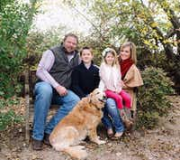 Joshua Harbuck with his children, Hudson and Harper, and his wife, Emery. (Facebook)