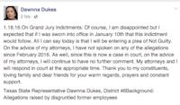 Facebook page of Rep. Dawnna Dukes, D-Austin, Jan. 18, 2017.