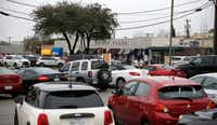 A parking lot at the intersection of Snider Plaza and Daniel Avenue at Snider Plaza in Dallas on January 18, 2017(Nathan Hunsinger/ Staff Photographer)
