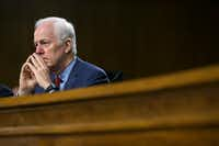 "Sen. John Cornyn said Perry, a fellow Texan, is ""one of the best people I can think of to tell the Texas story."" (Al Drago/The New York Times)"