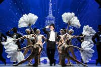 Nick Spangler and the company of the national tour of<i> An American in Paris</i> presented by Dallas Summer Musicals at Fair Park Music Hall Jan. 31-Feb. 12, 2017 and by Performing Arts Fort Worth at Bass Hall Feb. 14-19, 2017.(Matthew Murphy)