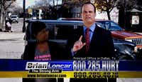 "Attorney Brian Loncar, a.k.a. ""The Strong Arm,"" advertised his legal services on TV.(YouTube<br>/YouTube)"
