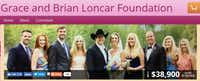 The Grace and Brian Loncar Foundation website.