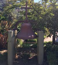 The church bell rings before services, which are optional at New Camaldoli Hermitage.(Tina Danze)