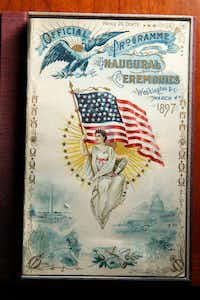 A program from President William McKinley's inauguration in Hervey Priddy's personal collection. This item is not on display at the Bush Library.(Nathan Hunsinger/Staff Photographer)