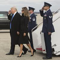 President-elect of The United States Donald J. Trump and first Lady-elect Melania Trump arrive at Joint Base Andrews the day before his swearing in as 45th president of the United States, January 19, 2017.(Pool/Getty Images)