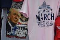 President-elect Donald Trump merchandise on sale outside the White House in Washington, DC, on January 19, 2017, as final preparations are underway a day ahead of the inauguration of the 45th US president.(MARK RALSTON/AFP/Getty Images)