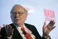 Warren E. Buffett, Chairman of the Board and Chief Executive Officer, Berkshire Hathaway Inc., participates in a NADA Automotive forum happening in conjunction with the New York International Auto Show, Tuesday, March 31, 2015, in New York.  (AP Photo/Mary Altaffer) (AP)