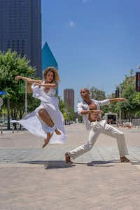 "Michelle Hebert and Sean J. Smith of Dallas Black Dance Theatre, which is hosting the  International Association of Blacks in Dance conference and performing at the showcase concerts. (<p><span style=""font-size: 1em; background-color: transparent;"">Dallas Dance Project</span><br></p><p></p>)"