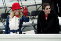 Trump advisers Kellyanne Conway (left) and Hope Hicks were at Friday's inauguration. (Alex Wong/Getty Images)