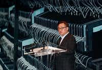 Samsung Electronics's mobile president Koh Dong-jin speaks during a press conference at its headquarters in Seoul, South Korea, Monday, Jan. 23, 2017. (AP0