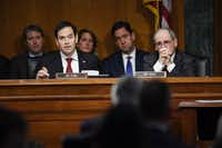 "<p></p><p>In capitulating to support Tillerson, Florida Republican Sen. Marco Rubio said, ""It would be against our national interests to have this confirmation unnecessarily delayed or embroiled in controversy."" (Matt McClain/The Washington Post)</p><p></p>"