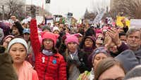 Women marched in Washington D.C. on Saturday, Jan. 21, following the inauguration of President Donald Trump.((Anna Hanks))