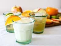 Soda trio: Vanilla Lime, Orange Cream Soda and Rosemary Apple.((Rebecca White))