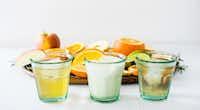 Soda trio:  Rosemary Apple , Orange Cream Soda and Vanilla Lime.((Rebecca White))