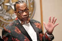 County Commissioner John Wiley Price at a commissioners court meeting in Dallas on December 20, 2016.(Nathan Hunsinger/Staff Photographer)