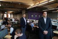 "Purple Land Management owners Jesse Hejny and Bryan Cortney wanted a millennial-friendly office environment. <span style=""background-color: transparent; font-size: 0.6875rem;""> (Lawrence Jenkins/Special Contributor)</span>"