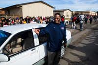 "<p>Teachers aide Kevin MaBone is surprised with a car during a presentation by students and teachers on Friday, January 20, 2017 outside Wilkinson Middle School in Mesquite. <span style=""font-size: 1em; background-color: transparent;"">MaBone lied about having cancer. a story he made up to cover the fact that he had a federal court date in West Virginia. </span></p>(Ashley Landis/The Dallas Morning News)"