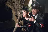 Carla Parker and  Mitchell Parrack play Nazi officers Frau Kina Hora and Herr Lipschitz.(Robert Hart/Special Contributor )