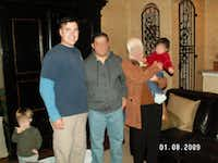 <p>Vaught with Huthaifa, another Iraqi translator, and his family at Vaught's East Dallas home.</p>
