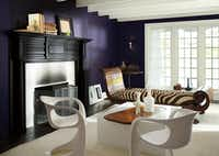 Rich and saturated, Shadow from Benjamin Moore is a dramatic, royal amethyst. It leads a 2017 palette of corresponding darkened hues.((Benjamin Moore))