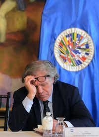 "Secretary General of the Organization of American States (OAS), Luis Almagro is pictured during the enactment of a ""Clean politics"" law, regarding the control and transparency of political parties, electoral campaigns and their fundraising, at the Presidential House in Tegucigalpa, on Jan. 17, 2017.   / AFP PHOTO / ORLANDO SIERRAORLANDO SIERRA/AFP/Getty Images(AFP/Getty Images)"