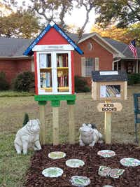 About 50,000 Little Free Libraries have been placed in countries all over the world, like this one in Denton.((File Photo/Staff) )