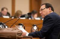 "<p>Senators grilled Texas protective services chief Henry ""Hank"" Whitman on Monday. (Jay Janner/Austin American-Statesman)</p>"