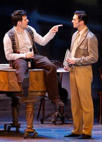 Etai Benson (as Adam Hochberg) (left) and Garen Scribner (as Jerry Mulligan) in the national touring production of <i>An American in Paris</i>, presented by Dallas Summer Musicals at Music Hall at Fair Park in Dallas.((Jae S. Lee/Staff Photographer))