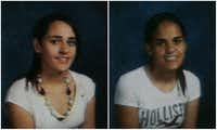 Amina Said, left, and Sarah Said in their Lewisville ISD school portraits. (Lewisville ISD)