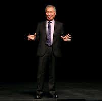 George Takei spoke Thursday night during the Embrey Human Rights Program presented by the Dallas Holocaust Museum/Center for Education and Tolerance at SMU. (Nathan Hunsinger/Staff Photographer)