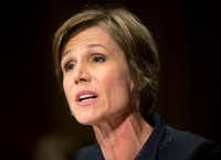 Former acting Attorney General Sally Yates, who was fired by President Donald Trump for refusing to allow the Justice Department to defend Trump's immigration orders, was praised by Takei. (Pablo Martinez Monsivais/The Associated Press)