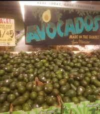 <br>(Avocados from Mexico were on sale last week at Central Market in advance of Super Bowl Sunday. Staff photo: Karen Robinson-Jacobs/DMN )
