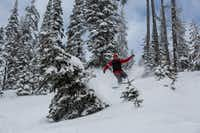 Skiing the broad powder bowls in the backcountry of Montana s Stillwater State Forest(Brian Irwin)