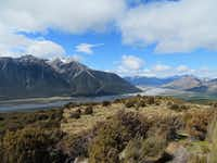 From Bealey Spur Track near Arthur's Pass, hikers can see several peaks up to nearly 7,500 feet .(Sheryl Jean)