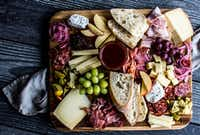 Here's an example of an all-local charcuterie board.((Rebecca White))