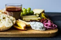 Have a good flavor balance on your charcuterie board.((Rebecca White))