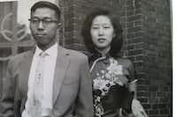 The writer's parents in an undated family photo ((Courtesy of Thomas Huang))