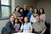 The family gathered for a photo last year. By May 2016, Thomas Huang (standing in the back) writes that his mother (foreground) had developed cognitive issues.((Courtesy of Thomas Huang) )