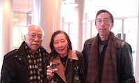 Thomas Huang (right) in an undated photograph with his parents.((Courtesy of Thomas Huang) )