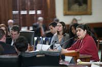 <p>Sylvia Martinez of Austin testified against the bill.<br></p>((Kelly West/Austin American-Statesman))