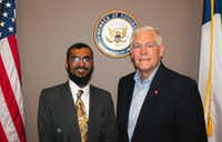 Zoher Bharmal with Rep. Pete Sessions