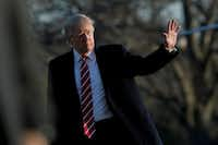 President Donald Trump arrived back at the White House Monday after a trip to Florida. (Manuel Balce Ceneta/The Associated Press)