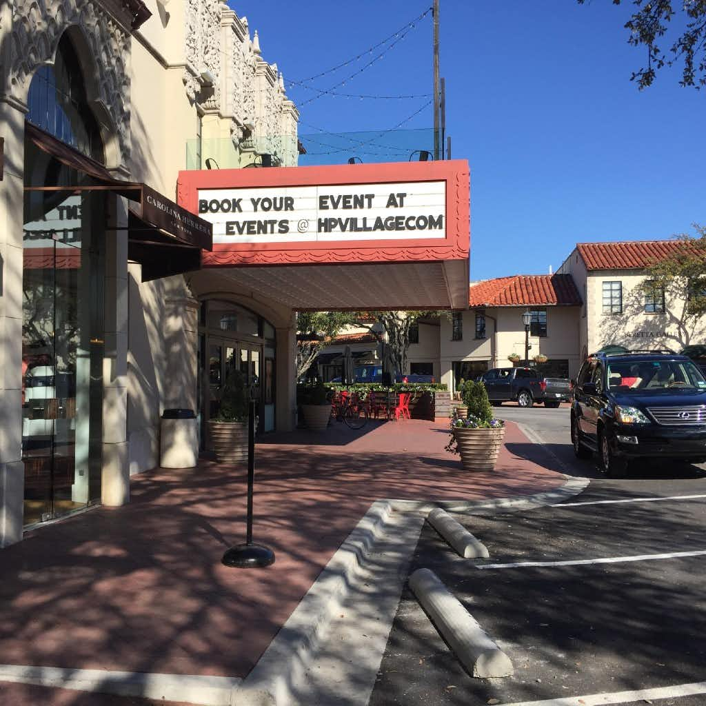 The marquee on the Village Theater in Highland Park Village promotes the shopping center's event space. Photographed on January 28, 2017.DMN Staff