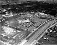 "<p>Shot June 13, 1970 - aerial photo of Sears store which opened first before the rest of Valley View Center opened in 1973. <span style=""font-size: 1em; background-color: transparent;"">In January 1969, the first 10-mile section of Interstate 635 opened from N. Central Expressway to Mesquite. In February 1970, the highway was extended west from Central to I-35.</span></p>(Tom Dillard / staff photographer)"