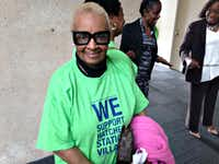 Willie Mae Coleman at Dallas City Hall on Monday.((Robert Wilonsky/Staff))